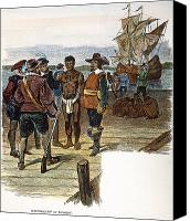 Jamestown Canvas Prints - Jamestown: Slavery, 1619 Canvas Print by Granger