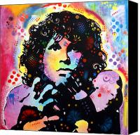 Morrison Canvas Prints - Jim Morrison Canvas Print by Dean Russo