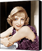1930s Hairstyles Canvas Prints - Joan Crawford, Ca. 1930s Canvas Print by Everett