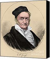 Theorist Canvas Prints - Johann Carl Friedrich Gauss, German Canvas Print by Science Source