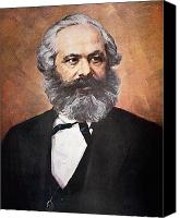 Half-length Painting Canvas Prints - Karl Marx Canvas Print by Unknown