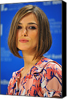 At The Press Conference Canvas Prints - Keira Knightley At The Press Conference Canvas Print by Everett
