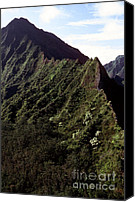 Oahu Digital Art Canvas Prints - Koolau Mountains Canvas Print by Thomas R Fletcher