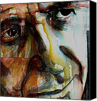 Leonard Cohen Canvas Prints - Leonard  Canvas Print by Paul Lovering