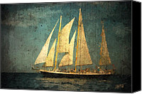 Ship Mixed Media Canvas Prints - Liberte Canvas Print by Michael Petrizzo