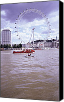 21st Century Canvas Prints - London Eye Canvas Print by Carlos Dominguez