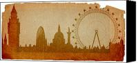 Landmarks Mixed Media Canvas Prints - London Canvas Print by Michal Boubin