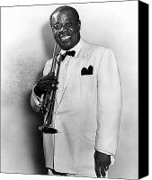 African American Canvas Prints - Louis Armstrong 1900-1971 Canvas Print by Granger