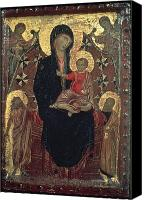 Byzantine Photo Canvas Prints - Madonna And Child Canvas Print by Granger