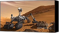 Conception Canvas Prints - Mars Rover Curiosity, Artists Rendering Canvas Print by NASA/Science Source