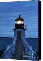 Blue Point Canvas Prints - Marshall Point Light Canvas Print by John Greim