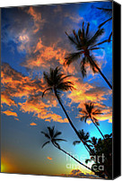 Beach Photograph Photo Canvas Prints - Maui Sunset Canvas Print by Kelly Wade