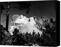 Mountain Sculpture Photo Canvas Prints - Mount Rushmore Canvas Print by Granger