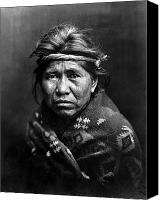 Indian Portrait. Native American.southwest. Canvas Prints - NAVAJO MAN, c1914 Canvas Print by Granger