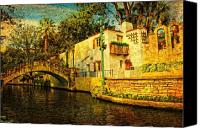Riverwalk Canvas Prints - Nostalgia Canvas Print by Iris Greenwell
