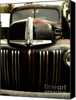 Old American Truck Canvas Prints - Nostalgic Rusty Old Ford Truck . 7D10281 Canvas Print by Wingsdomain Art and Photography