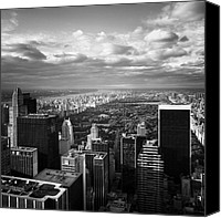 Bw Canvas Prints - NYC Central Park Canvas Print by Nina Papiorek