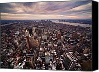 Nyc Photo Canvas Prints - NYC Downtown Canvas Print by Nina Papiorek