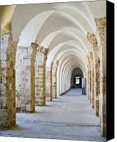 Ruins Canvas Prints - Ottoman-Style Arched Corridor Canvas Print by Noam Armonn