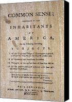 Independance Canvas Prints - Paine: Common Sense, 1776 Canvas Print by Granger