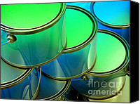 Ranjini Kandasamy Canvas Prints - Paint Cans Canvas Print by Ranjini Kandasamy