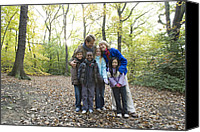 10:7 Canvas Prints - Parents And Children In A Wood Canvas Print by Ian Boddy