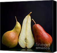 Foodstuff Canvas Prints - Pears Canvas Print by Bernard Jaubert