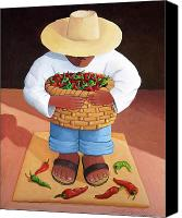 Spanish Style Canvas Prints - Pepper Boy Canvas Print by Lance Headlee