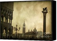 Coat Of Arms Canvas Prints - Piazetta. VENICE Canvas Print by Bernard Jaubert