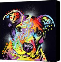 Animal Art Mixed Media Canvas Prints - Pitastic Canvas Print by Dean Russo