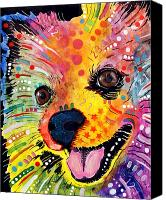 Dogs Painting Canvas Prints - Pomeranian Canvas Print by Dean Russo