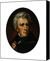 Founding Fathers Painting Canvas Prints - President Andrew Jackson  Canvas Print by War Is Hell Store