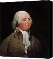 Founding Fathers Painting Canvas Prints - President John Adams Canvas Print by War Is Hell Store