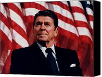 Patriot Photo Canvas Prints - President Ronald Reagan Canvas Print by War Is Hell Store