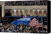 Barack Canvas Prints - Presidential Candidate Barack Obama Canvas Print by Everett