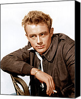 1955 Movies Canvas Prints - Rebel Without A Cause, James Dean, 1955 Canvas Print by Everett