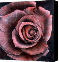 Floral Giclee Canvas Prints - Red Rose Canvas Print by Lawrence Supino