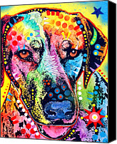 Pet Portrait Canvas Prints - Rhodesian Ridgeback Canvas Print by Dean Russo