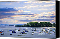 Danube Canvas Prints - River boats on Danube Canvas Print by Elena Elisseeva