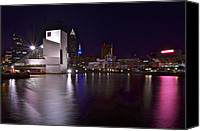 Architecture Photo Canvas Prints - Rock and Roll Hall of Fame Canvas Print by Robert Harmon