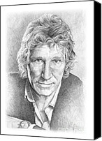 Roger Waters Canvas Prints - Roger Waters of Pink Floyd Canvas Print by Liz Molnar