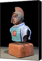 Rome Ceramics Canvas Prints - Roman Legionaire - Warrior - ancient Rome - Roemer - Romeinen - Antichi Romani - Romains - Romarere Canvas Print by Urft Valley Art
