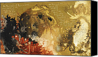 Bible Mixed Media Canvas Prints - 2 Samuel 22  Canvas Print by Michel  Keck