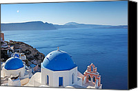 Thira Canvas Prints - Santorini - Greece Canvas Print by Constantinos Iliopoulos