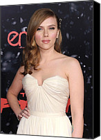 Premiere Of The Spirit Canvas Prints - Scarlett Johansson At Arrivals Canvas Print by Everett