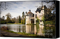 Moat Canvas Prints - Scotney Castle Canvas Print by Donald Davis