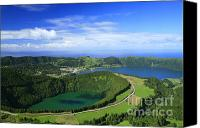 Azoren Canvas Prints - Sete Cidades crater Canvas Print by Gaspar Avila