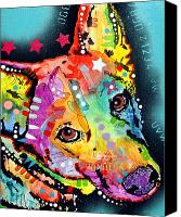Dogs Painting Canvas Prints - Shep Canvas Print by Dean Russo