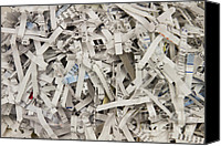 Censorship Canvas Prints - Shredded Paper Canvas Print by Blink Images