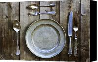 Flatware Canvas Prints - Silver Flatware Canvas Print by Joana Kruse